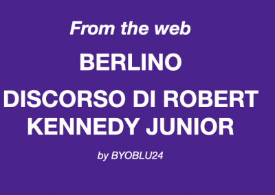 Discorso di Robert Kennedy Junior