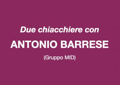 Due chiacchiere con Antonio Barrese