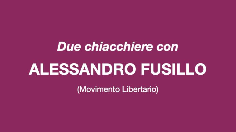 Due chiacchiere con Alessandro Fusillo