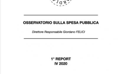 Forza Guardiana: ecco il 1° Report dell'Osservatorio sulla Spesa Pubblica