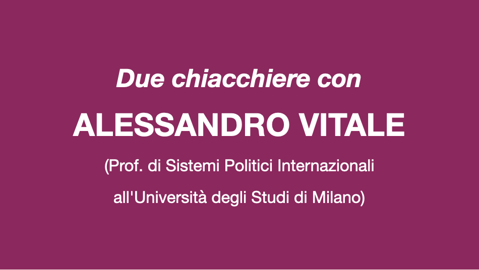 Due chiacchiere con Alessandro Vitale